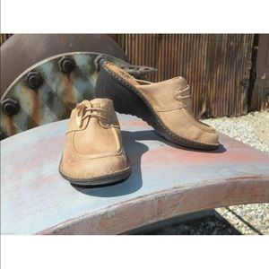 New Womens UGG Valle Chestnut Leather Clog Mule